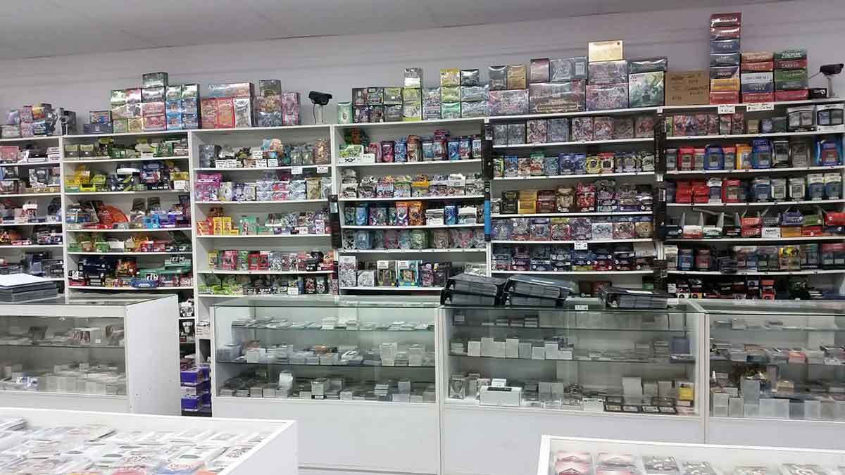 Inside Als Card Shop Perth