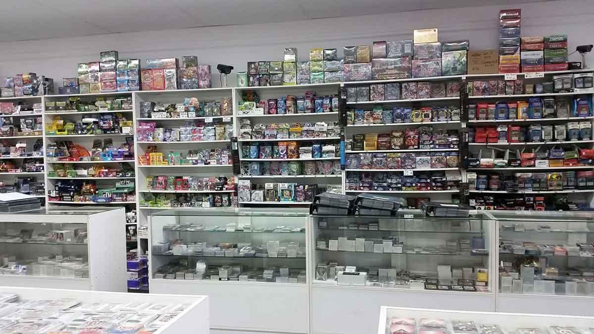 Inside Als Card Shop Perth